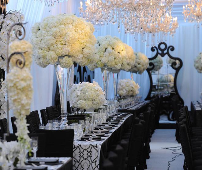 Black Tie Wedding Ideas: Long Wedding Table Ideas