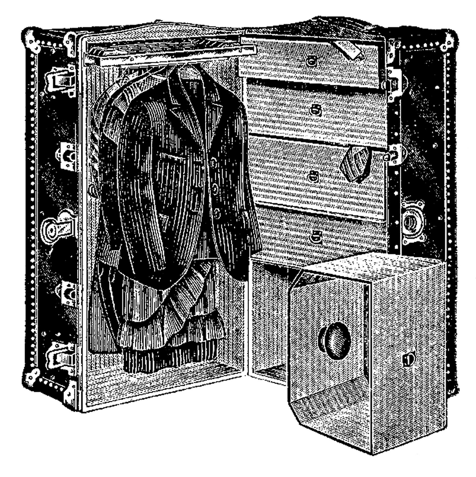 vintage travel clipart black and white - photo #6