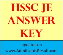 HSSC JE Civil Answer key 08 November 2015