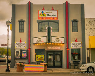Cramer Imaging's photograph of the Panguitch Gem Theater movie theater in Panguitch Utah
