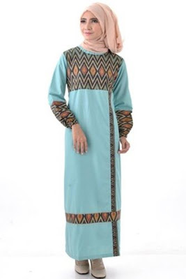 Model Baju Batik Kombinasi Sifon muslim