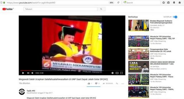 """Kesulitan Ucap """"Sholallohu 'alaihi wa salam"""", Publik Nilai Megawati tak Pernah Mengaji"""