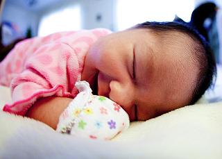 Image: Baby sleeping POV