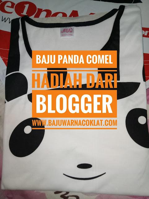 Giveaway , rezeki blog,menang giveaway , hadiah dari blogger , baju tidur panda