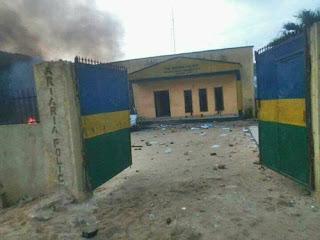 News: Curfew in Jos, IPOB members burn Aba police station, vehicles