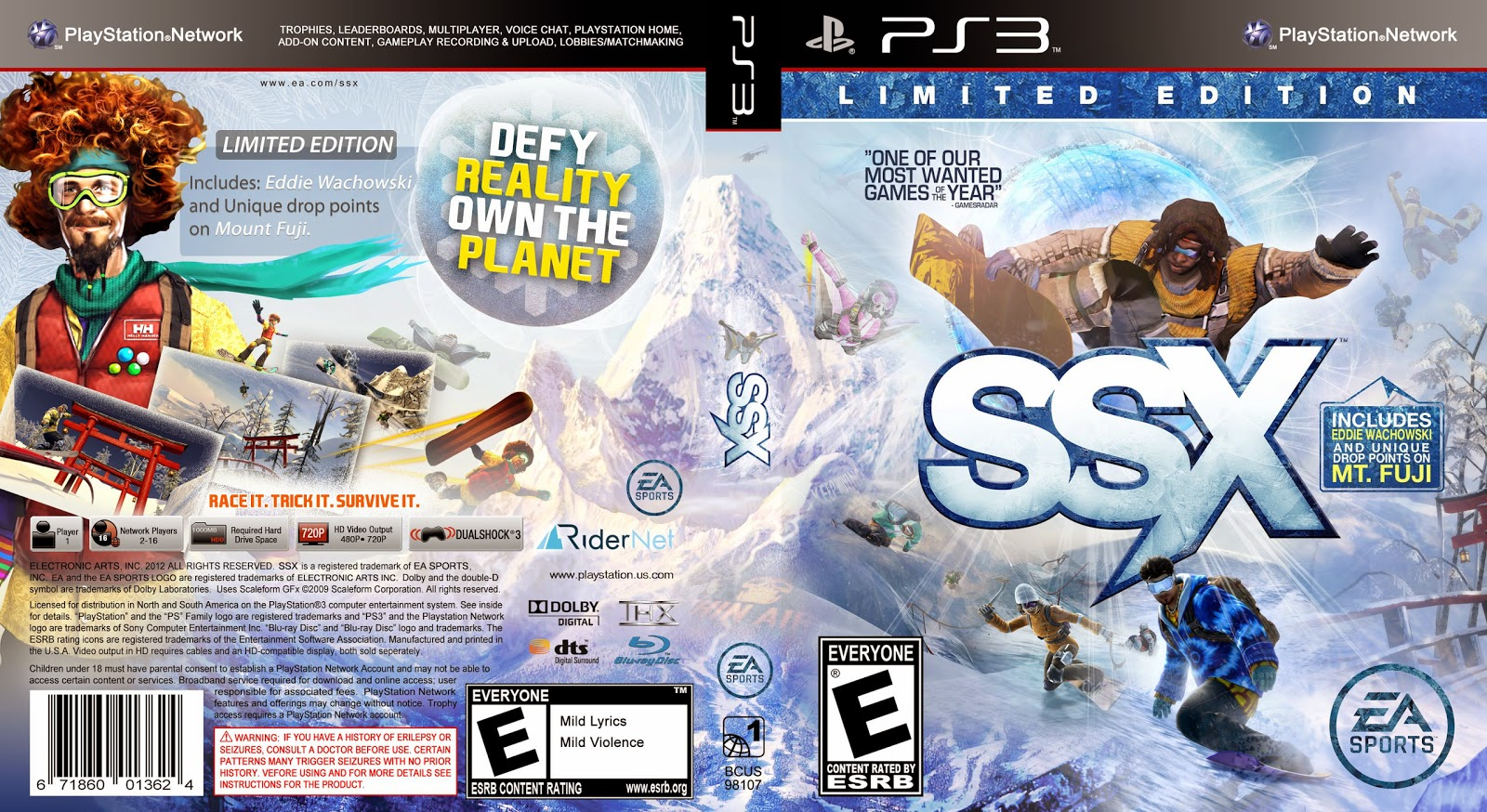 Capa SSX Limited Edition PS3