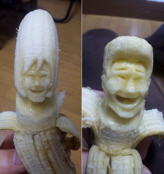 النحت علي الموز