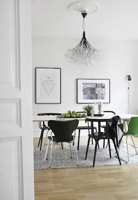 Ruang Makan Bergaya Skandinavia.