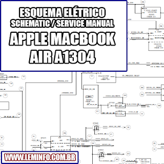 Esquema Elétrico Notebook Laptop Notebook Apple Macbook Air A1304 Manual de Serviço  Service Manual schematic Diagram Notebook Laptop Apple Macbook Air A1304    Esquematico Notebook Laptop Apple Macbook Air A1304