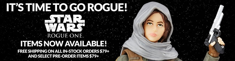 Purchase all of your Star Wars: Rogue One toys and collectibles at Entertainment Earth!