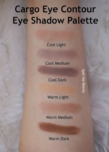 Cargo Eye Contour Eye Shadow Palette review swatches look