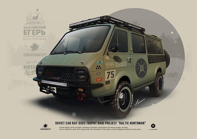 Baltic Huntsman, RAF2203 Van by Andrey Tkachenko