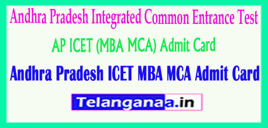 AP ICET (MBA MCA) Admit Card 2018 Hall ticket Download