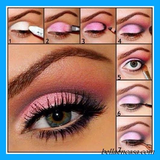 Maquillajes De Ojos Para Fiesta Paso A Paso Bella En Casa - Pintura-de-ojos-paso-a-paso