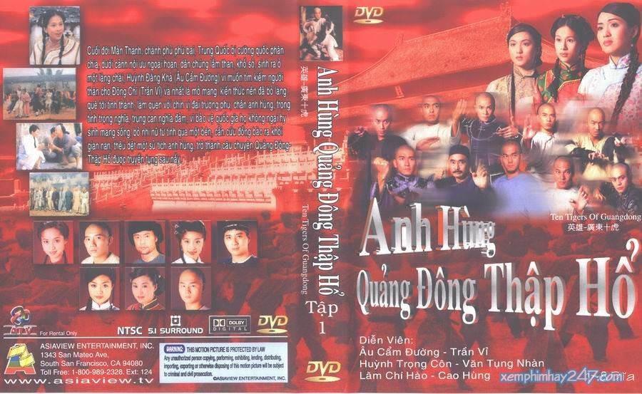 http://xemphimhay247.com - Xem phim hay 247 - Anh Hùng Quảng Đông Thập Hổ (1999) - Ten Tigers Of Guangdong (1999)