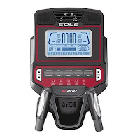 """Sole SC200's console with 7.5"""" LCD screen, cooling fan, MP3 compatible sound system, tablet holder, bottle holder"""