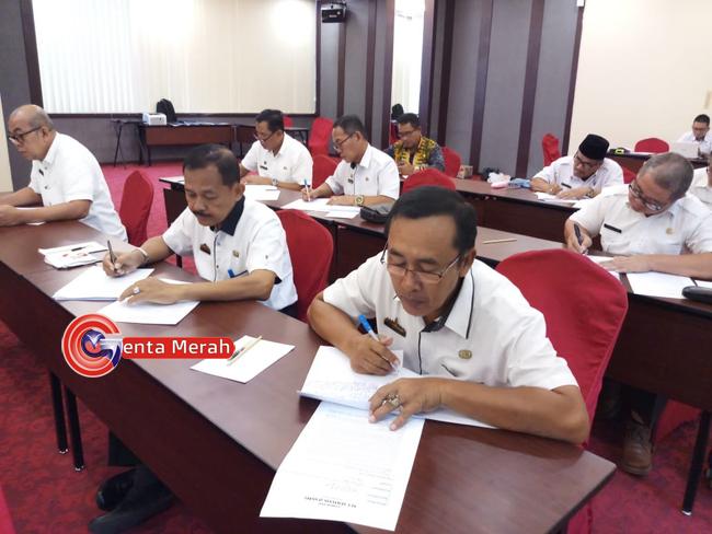 Evaluasi Kinerja Perangkat Daerah, 20 Pejabat Mesuji Ikuti Uji Kompetensi