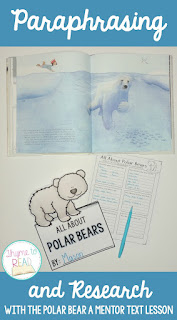 https://www.teacherspayteachers.com/Product/Paraphrasing-for-Polar-Bear-Research-2937754