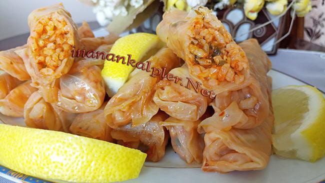 Zeytinyağlı Lahana Sarması - inanankalpler.net