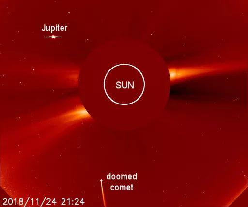 Un cometa impacto el sol.