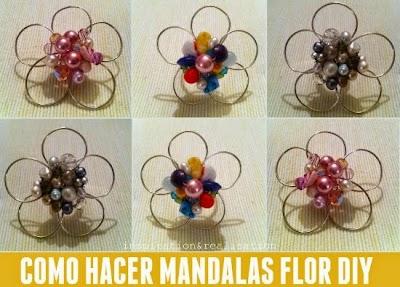 Como hacer un Mandala de Alambre/Mostacillas
