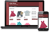 Create kids clothes online store