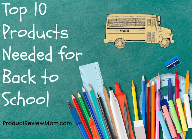 Top 10 Products Needed for Back to School  via  www.productreviewmom.com