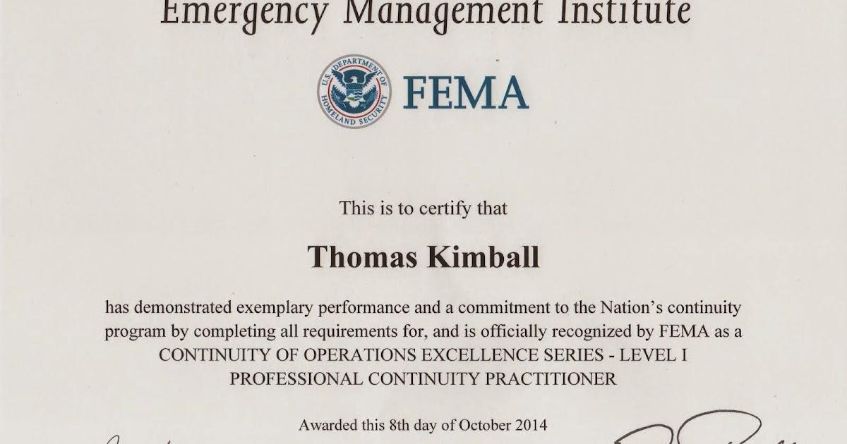 Thomas Quick Kimball Wa8uns Blog Fema Continuity Of Operations