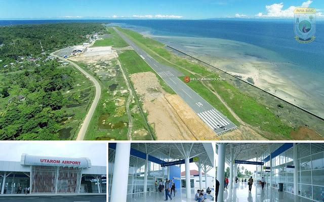 Foto Udara Bandara Utarom Kaimana Papua Barat