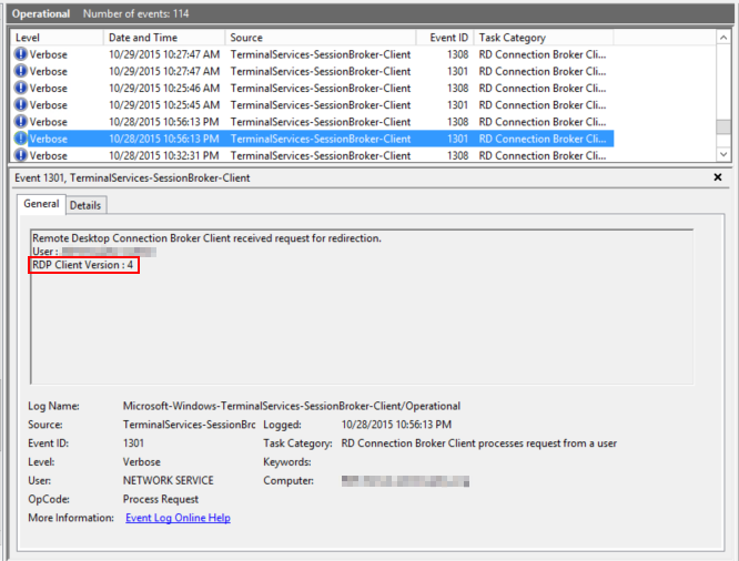 IT in the Frozen Tundra: Finding users who still have the RDP 7 1 client