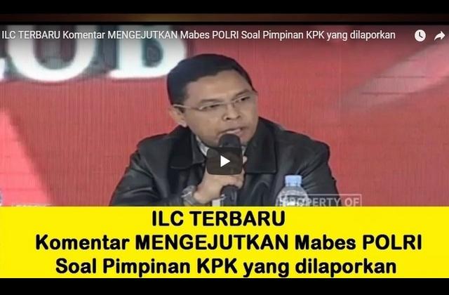 [ILC tvOne] Komentar MENGEJUTKAN Mabes POLRI Soal Pimpinan KPK yang Dilaporkan