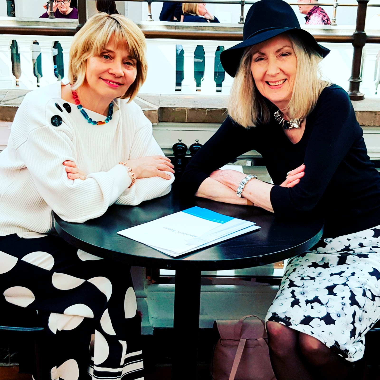 Two mid life fashion bloggers in the UK meet up for the first time at the Victoria and Albert Museum