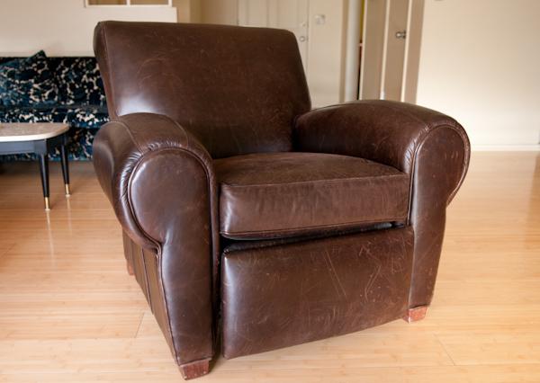 Heygreenie Club Chair Manhattan Leather Recliner Dark