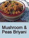 Mushroom & Peas Briyani