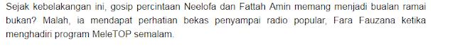 PANAS! Padah Farah Fauzana Komen Fattah Amin, Dia DIKECAM Teruk Dengan Peminat Fatah Sampai Terduduk !