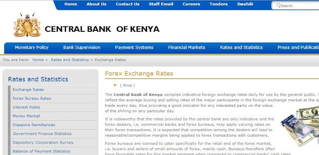 exchange rate kenya