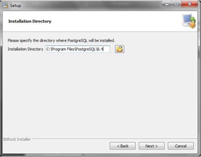 Kelas Informatika - Pilih Lokasi Instal PostgreSQL