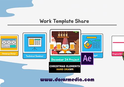 قوالب افترافكت قالب عناصر وأشكال واضافات وانتقالات مميزة للاعمال الكرتونية وصناعة الفيديو Cartoon Christmas Elements And Transitions  Free Download After Effects Templates