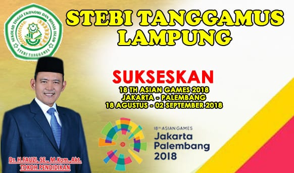Design Banner Sukseskan Asian Games STEBI Tanggamus