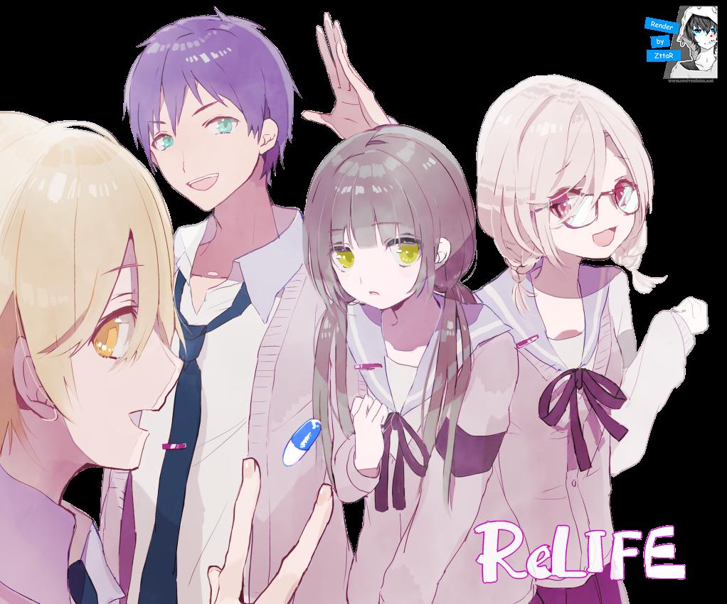 Render Yoake Ryou, Kaizaki Arata, Hishiro Chizuru and Onoya An