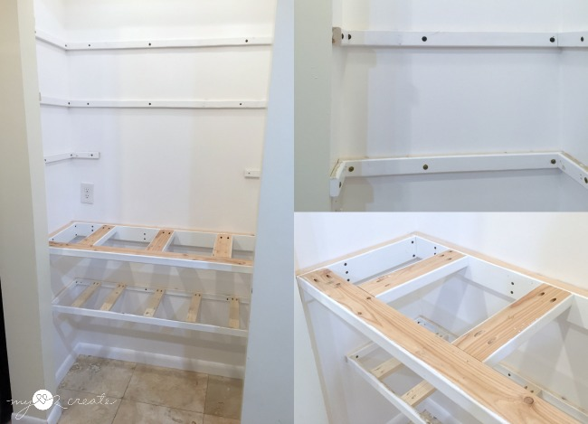 adding shelf supports and counter supports