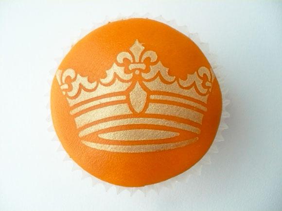 Kroon cupcakes met koningsdag