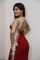 Rachana Smit in Red Deep neck Sleeveless Gown at Idem Deyyam music launch ~ Celebrities Exclusive Galleries 090.JPG