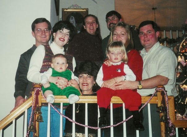 Schermerhorn Family Christmas 2002 -L-R-Mark, Marybeth, Nelson, Lee, Lauren, Denise, Brian, Kate, and Greg