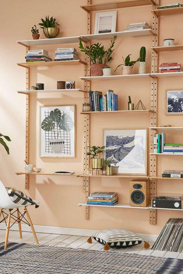 Model Desain Rak Dinding Buku Minimalis Sederhana Modern