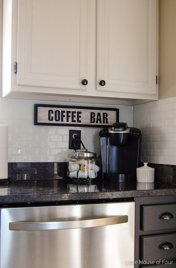 {Trash to Treasure} A $3.00 Goodwill find gets turned into a custom Coffee bar sign.