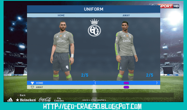 PES 2017 Real Madrid Kit Season 2015-2016