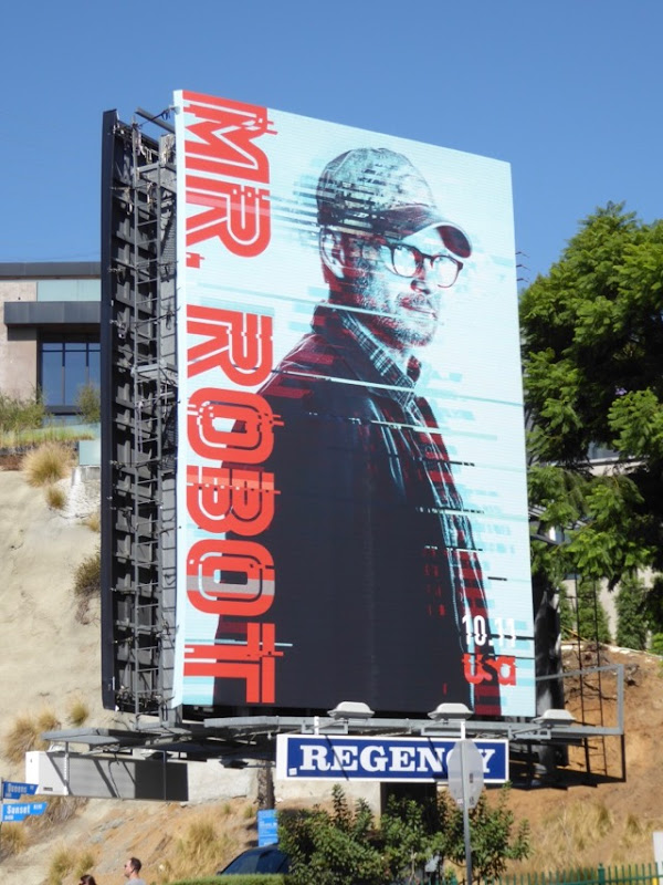 Christian Slater Mr Robot season 3 billboard
