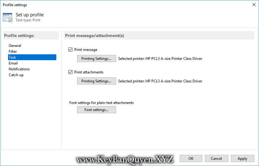 Automatic Email Processor 1.14.2 Full Key Download, Phần mềm hỗ trợ Outlook để tự động lưu,in email và tệp đính kèm