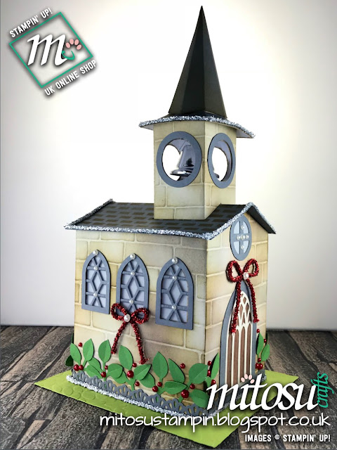 3D Church for the Creative Circle Blog Hop decorated with Stampin' Up! products order from Mitosu Crafts UK Online Shop